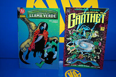 Two comics discontinued GREEN LANTERN-flame GREEN and Historia of Ganthet