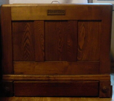 1920's-30's Solid Oak Vintage Ice Box Chest