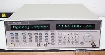Agilent HP 83752A Synthesized Sweeper 10 Mhz 20 GHz opt 1E1 Calibrated NIST Cert