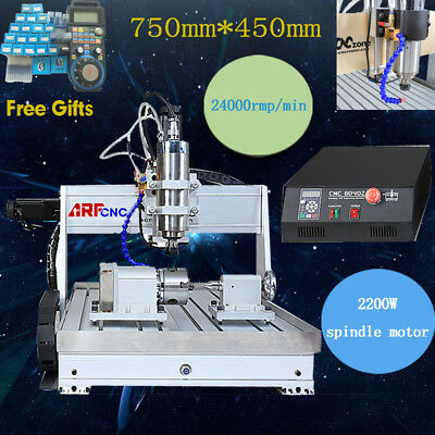 USB 4 axis 6040 2200W cnc router engraver engraving milling carving machine USA