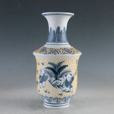 China Porcelain Painted Children Vase Made During The Da Qing Qianlong mark
