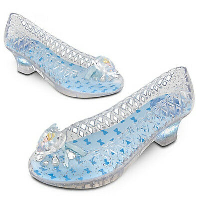 Disney Store Princess Cinderella Costume Light Up Dress Shoes Girls Pretend