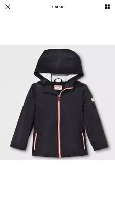 NWT HUNTER for Target Childrens Toddlers Rain Coat Outerwear Black Size 4 / 4T