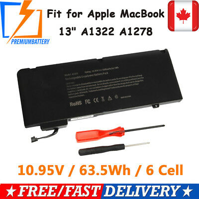 """New A1322 Battery For Apple Macbook Pro 13"""" A1278 Mid 2009/2010/2011/2012 CA P"""