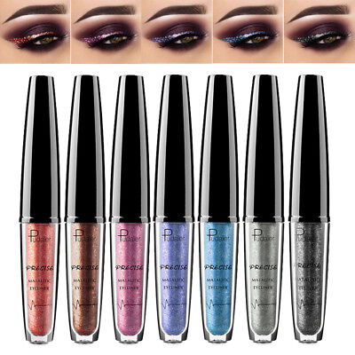 Glitter Metallic Liquid Eyeliner Shimmer Eyeshadow Eye Liner Cosmetic Makeup