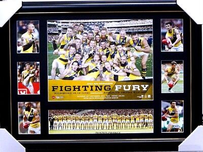 Richmond 2017 Premiers Print Framed Fighting Fury, Cotchin, Dustin Martin,