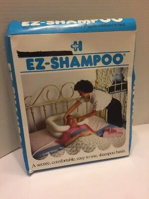 EZ-Shampoo is an inflatable vinyl shampoo basin for in-bed use Never Used