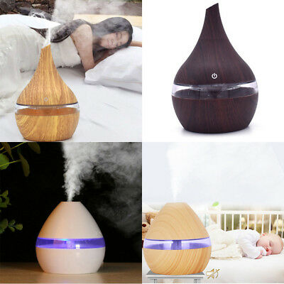 300ml LED Essential Oil Humidifier Ultrasonic Aroma Diffuser Air Aromatherapy US