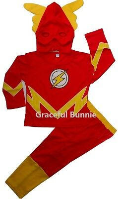 BNWT the Flash Kids Costume Dress up Cosplay - 3-10yrs
