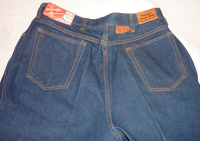 Wrangler Classic Blues Misses Full Fit Jeans NOS W/Org Tags 18P  USA 1970s