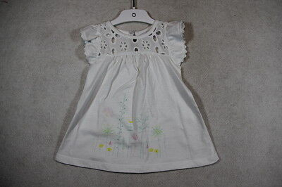 Baby Girl Size 0 Precious Plum Summer White Dress With Graphics NWT