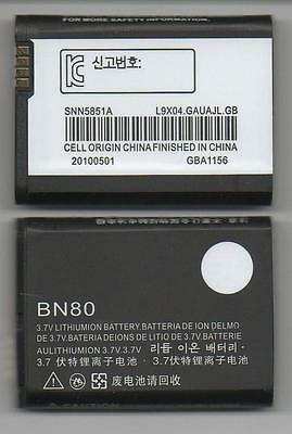 LOT OF 100 NEW BATTERY FOR MOTOROLA BN80 BACKFLIP i886