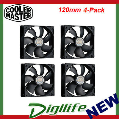 Cooler Master 4x 120mm Silent Case Fan 3-pin 12cm SI2 Value Pack