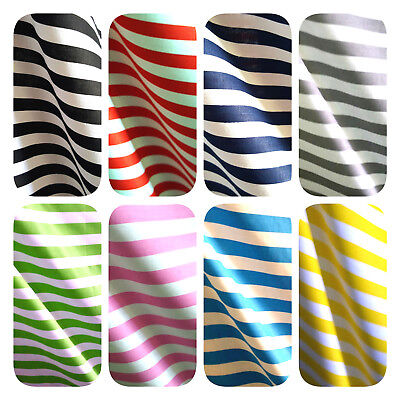 "1 Inch Awning Stripe Poly Cotton Summer Striped Fabric 60"" By The Yard 9 Color"