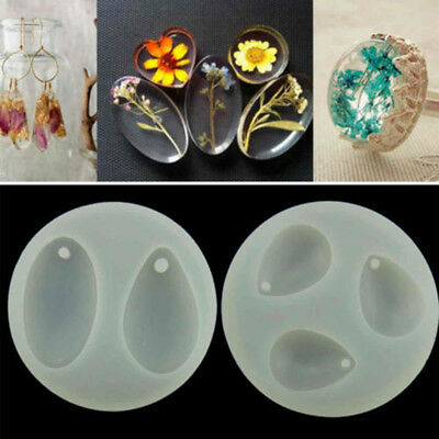 Diy Silicone Mold Crystal Jewelry Pendant Necklace Resin Mould Craft