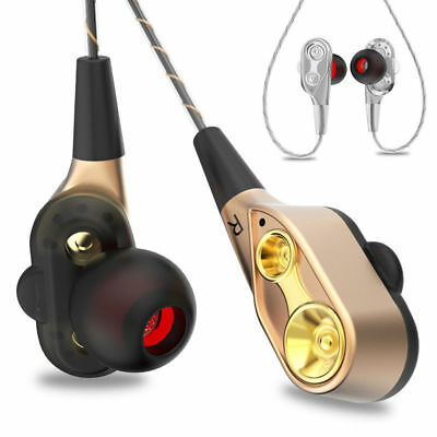 7D HIFI In-Ear Super Bass Stereo Earphone Dual Dynamaic Driver Sports Headphone