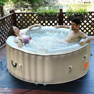 Portable Inflatable Bubble Massage Spa Hot Tub 4 Person Relaxing Outdoor 1