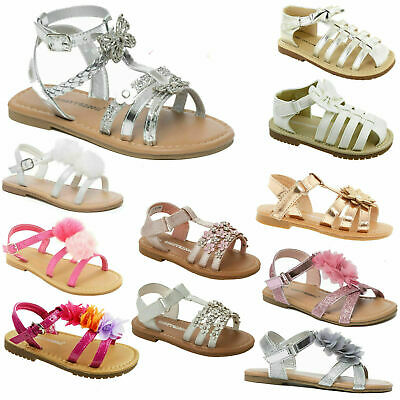 Girls Children Summer Sandals Casual Holiday Flat Party Princess Flip Flop Shoes