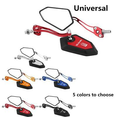 2pcs Universal Motorbike Scooter Rearview Mirror Rear View Mirrors Left & Right