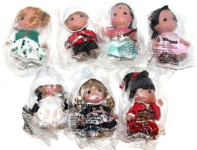 """Disney """"It's A Small World"""" Precious Moments 1st Edition 5"""" Doll Set of 7 SIGNED"""