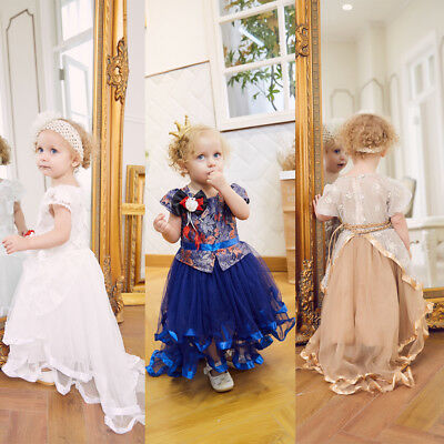 Princess Baby Girl Kid Bridesmaid Flower Party Formal Wedding Gown Fancy Dress