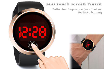 Chic Men's Waterproof Led Digital Time Keeping Date Time Silicone Wristwatches