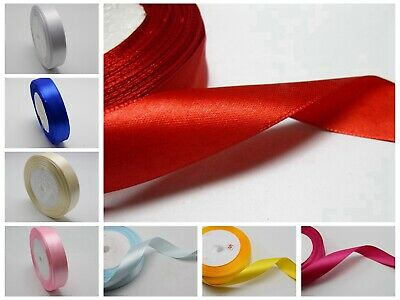 """25 Yards 3/4"""" (20mm) Wedding Bows Crafts Satin Ribbons Pick Your Color"""