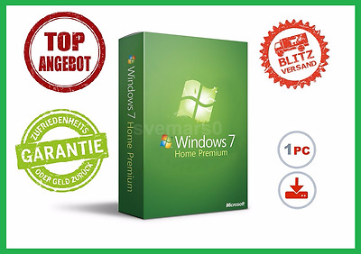 Microsoft Windows 7 Home Premium 32/64BIT ✔ PRODUCT-KEY Lizenz ✔ VOLLVERSION