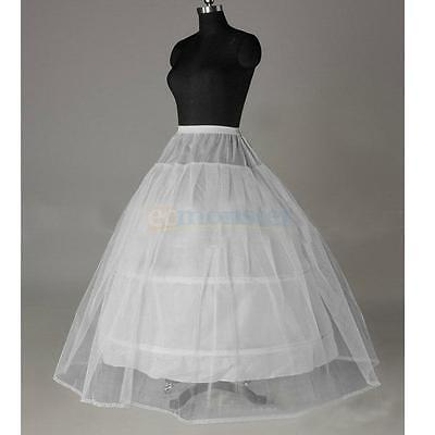 Wedding Slip Ball Gown Prom Dress Bridal Petticoat Crinoline Hoop Skirt A-Line