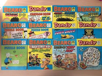 12 x BEANO AND DANDY SMALL COMICS & PUZZLE BOOKS comic library - 1980's
