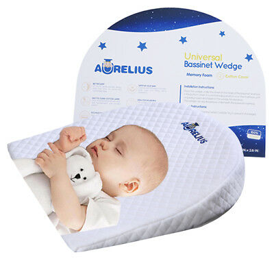 Aurelius Baby Sleep Pillow Wedge Anti Reflux With Memory Foam 12 Degree
