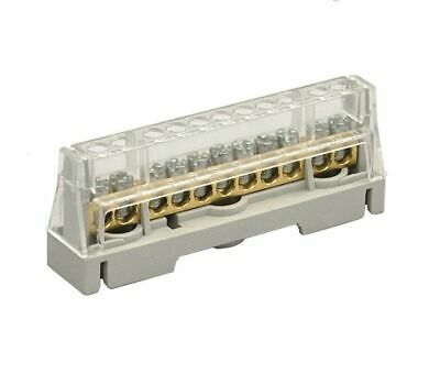 Arnocanali 11 Hole Distribution Terminal Block Grey