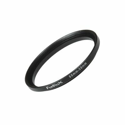 Fotodiox Metal Step Up Ring Filter Adapter, Anodized Black Aluminum 55mm-58mm,