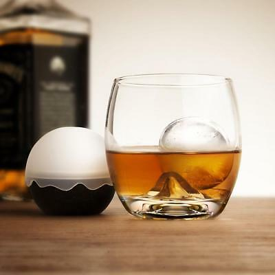 2pc Whiskey Tumbler Crystal Glass Ice Ball Mould Maker Set Summer Drink Party
