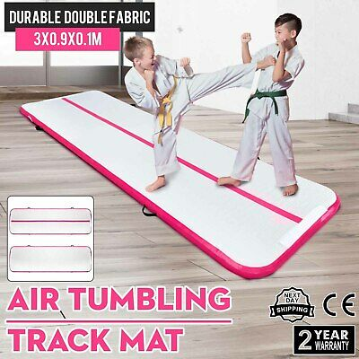 10Ft Air Track Floor Tumbling Inflatable Gym Mat Pad Yoga Gym Mats AirTrack