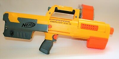 Guc Nerf N-Strike Deploy Cs-6 Blaster, 30 Dart Drum, Laser Sights, Fully Working