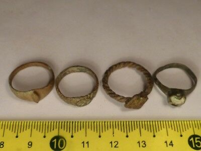 2783	Lot of 4 Byzantine and Medieval rings