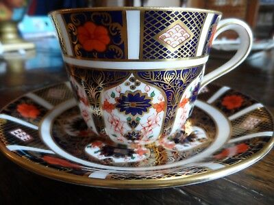 Royal Crown Derby 1128 Imari Cup and Saucer Perfect