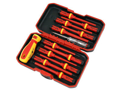 Neilsen 1000 V VDE Insulated Screwdriver Set - Red CT3794