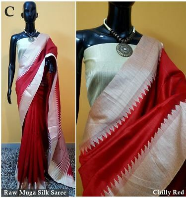 Designer Saree Indian Party Wear Fancy Cottan Silk Saree Blouse Us2