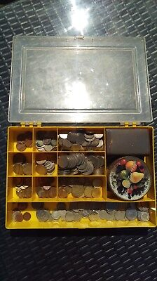 Storage Tray Full Of Old Coins - 1881 Farthing, Roman Sestertius All Sorts