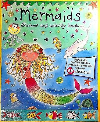 Mermaids | Sticker Book | Puzzles | Press Outs | Girls Activity | Free Post |New