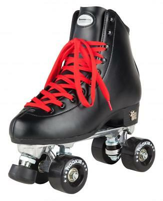 New Rookie Classic II Junior & Senior SBlack Quad Wheels Roller Skates S Leather