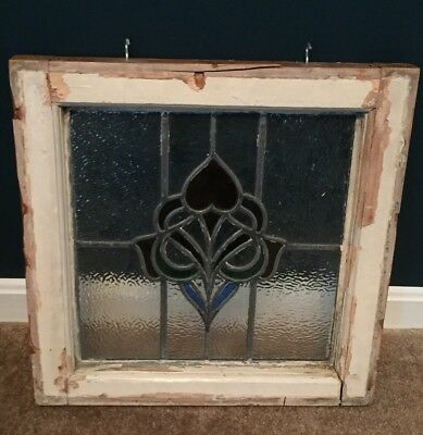 Old English, Antique Stained Glass Window - Good Condition, Beautiful Design