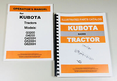 SET OF KUBOTA B6000 Tractor Service Owners Operators Parts Manual