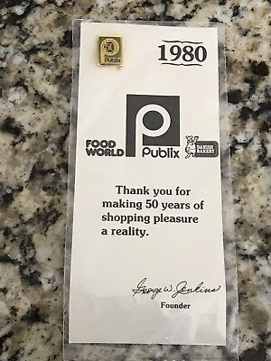 35 Year Old Publix Pin New And Unopened 1930-1980 50 Years Of Shopping Pleasure