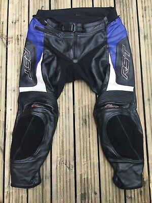 Mens RST Leather Motorcycle Sports / Racing Trousers Size W40 L30 Suzuki Biker