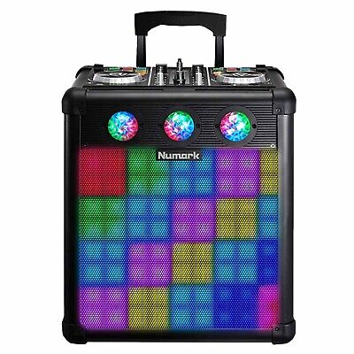 Numark Party Mix Pro DJ Controller with Built-In Light Show + Portable Speaker