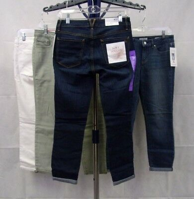 NWT Women's Jessica Simpson Rolled Crop Skinny Jeans - Super Soft / Stretch -