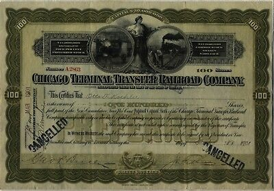 1901 Chicago Terminal Transfer Railroad Company Stock Certificate